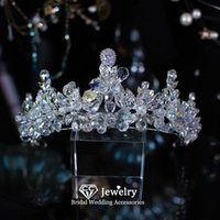 Hair Clips & Barrettes Tiaras And Crowns Wedding Accessories For Women Engagement Ornaments Bridal Headdress Water Drop Shape Diadem Gift