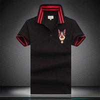 Italia Marca Nueva Moda Polo Polo Polo Homme Designer Polo Camiseta De Serpent Boros Abeille Broderie Modo Vêtements Verter Hommes Casual