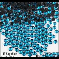 Dikiş Kavramları Araçları Giyim Damla Teslimat 2021 Safir SS6-SS30 DMC Mavi Zirkon Fix Rhinestones Demir üzerinde Strass Flatback Düzeltme DIY Nail Art /