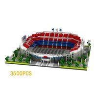 컬렉터 빌딩 벽돌 스페인 라 리가 축구 클럽 바르셀로나 캠프 Nou 경기장 마이크로 다이아몬드 블록 모델 나노 릭스 완구 x0522