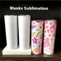 US Stock 20oz Sublimation Tumbler Blank Stainless Steel Tumbler DIY Straight Cups Vacuum Insulated 600ml Car Tumbler Coffee Mugs