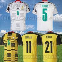 Ghana Thomas National Team Soccer Jerseys 2021 22 Schlupp Kudus J.Ayew Caleb Ekuban Samuel Owusu Casa Away Camicia da calcio