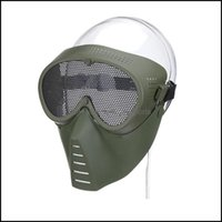 Aessories Sports & Outdoorsairsoft Metal Steel Net Mesh Hunting Tactical Outdoor Protective Cs Halloween Party Half Cycling Face Mask Drop D