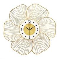 ساعات الحائط ساعة الإبداعية الخفيفة المنزلية الفاخرة من المعاصرة والمتعاقد الأزياء غرفة الجلوس زينة الفن شنقا