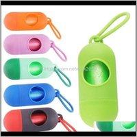 Andere Ankunft Scoop Leine Dispenser mit Haken Mini Dog Poop Bag Boxen Pet Supplies 10 stücke Mischfarben C8LWK OWHHAL
