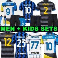 Inter milan Camiseta de fútbol de Interlança soccer jersey football shirt VIDAL BARELLA ERIKSEN LUKAKU LAUTARO 20 21 chandal de fútbol 2020 2021 kit hombres + niños cuarto