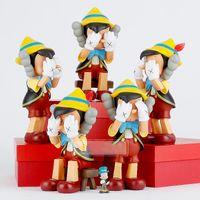 Best-Selling 26cm et 45cm OriginalFake Kaws Deux types de style pour une boîte d'origine Compagnon Action Figure Modèle Décorations de décorations Toys
