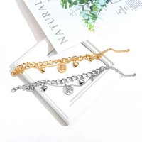Hot selling fashion multi-layer love hand decoration stainless steel hollow tree of life titanium steel women's Bracelet