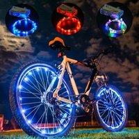 자전거 조명 산악 자전거 휠 문자열 빛 사이클링 스포크 램프 액세서리 Luces Bicicleta Bisiklet