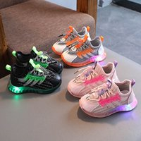 Bebek Atletik Çocuk Ayakkabı Bebek Sneakers LED Kız Ayakkabı Çocuk Bahar Sonbahar Çocuk Elastik Erkek Moccasins Yumuşak Koşu Toddler Spor Ayakkabı Açık B6827