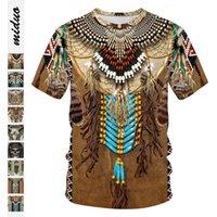 2021 Nouveau été Summer Indian Eagle Impression numérique Hommes Casual T-shirts T-shirts Sport Pull Court Top Shorts Sleeve avec Emballage à main