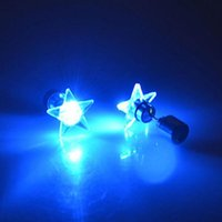 5 10 Pairs set Led Light Up Glow Flash Earrings Shine Different Christmas Birthday Party Festival Toys Decoration Supplies
