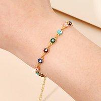 Halskette Braclet Schmuck Sets Frauen Einfache Demon Eye Perlen Armband Erklärung Hochzeit Mode Collares Ohrringe