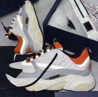 B22 Sneaker Sneaker in pelle in pelle di vitello uomo Designer scarpe tecniche Knit Donne Piattaforma Piattaforma Sneakers Blu Grigio Luxurys Designer Reflettent Casual Shoe