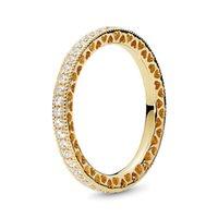 Fanshi Cross Border Vendita calda Eternal Heart Ring Temperament Anello congiunto Moda Semplice Peach a forma di Padras WeddingHollow Out Ring780 T2