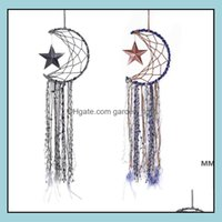 Arts And Arts, Crafts Gifts Home & Gardendreamcatcher Bells Hang Moon Star Dreamcatcher Feather Dream Catcher Pendant Wall Hanging Room Deco