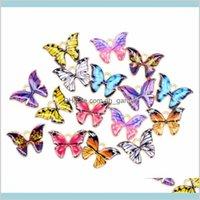 Красочные кулон бабочки 100шт Лот 12 * 15 мм эмаль животных очаровательные подвески подходят для ожерелья браслет DIY ювелирные изделия изготовления RMII XZD5C