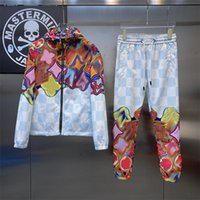 2021ss Homme Homme Vêtements Tracksuits Marque Hommes Sweat Support Spring Automne À Manches longues à manches longues Ensemble de jogging Vestes de Jogging + Pantalons Sportswear