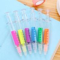 6 kleuren nieuwigheid nurse naald spuit vormige markeerstift marker marker pen kleuren pennen briefpapier schoolbenodigdheden dwf8838