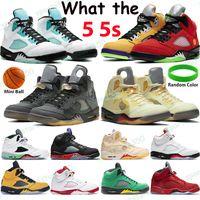 2021 أحذية كرة السلة 5 5S أبيض X Sail Black Musllin Gray ما أوريغون البديل بيل وردي رغوة ضوء أكوا gs النساء أحذية