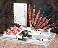 Máquina de ceinker de carne manual Kebab Máquina de pinceles de bambú Máquina de bambú Máquina de la barbacoa Pinchazos Maker BBQ Herramienta de parrilla RRD7701
