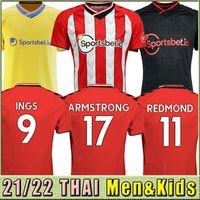 21 22 Ins camisas de futebol envolve 2021 2022 DJenepo Armstrong camisa de futebol conjunto longo Adams Romeu Vestergaard homens Kit Kit uniformes