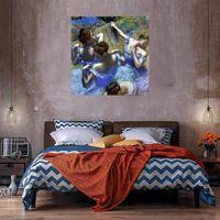 Bailarines azules enorme pintura al óleo sobre lienzo Decoración para el hogar Handcrafts / HD Print Wall Art Imagen 210428
