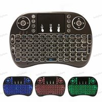 Télécommande de rétroéclairage rétro-éclairage Backlit Backlit sans fil Mini I8 pour Android TV Boîte 2.4g avec tactile pavé pc souris d'air