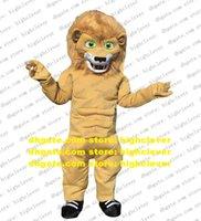 Brown Muscular Lion Costume Mascot Costume Dessin animé Adulte Tenue de personnage Costume Nouveau Style Fandango Dancing Party ZZ8090