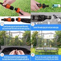 US Stock Pool Piscine Sport 26ft Sprinkler Trampoline Accessoires Summer Outfil Busle Park Jouets Haute pression d'eau Étanche de jardin étanche