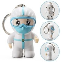 White Angel Keychain Small Exquisite Cartoon Nurse Key ring Pendant With Hook Thanksgiving Present Toy Gifts