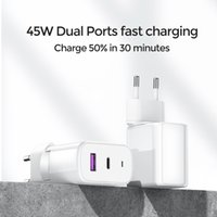 45W Quick Charge 3.0 USB Charging For iPhone Samsung Huawei Xiaomi 2 Port QC 3.0 Turbo Wall Charger US EU UK Plug Adapte