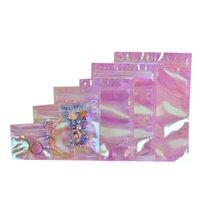 Usealable Foil Bag Cound Bag Сохлопывание Плоские Сумки Ziplock Упаковка для Party Forite Food Storage Лазер Голографический Цвет