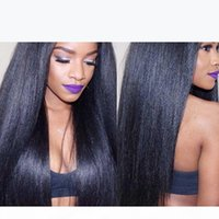 Italian Yaki Straight Glueless Full Lace Wig Brazilian Virign Human Lace Front Wig Light Yaki Wigs With Baby Hair