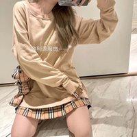 [Маленький медведь] Хлопок Свитер Свитер Осенние Пуловер Плед Шищеная Подделка Два Части Женская Корейская Куртка Мода