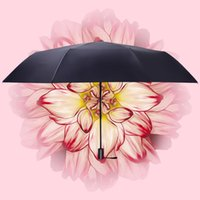 Umbrellas Three Fold Double-layer Black Set Series, Wind Umbrella, Sunscreen Umbrella