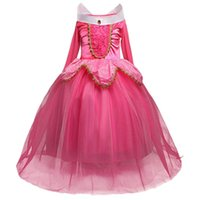Girls Princess Vestido Cosplay Disfraz Niños para niños para Fiesta Sin mangas Rosa