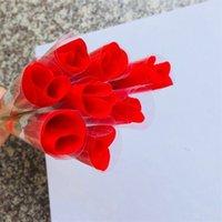 Симулятор цветок одиночные красные розы мультфильм медведь с наклейкой в форме сердца наклейка в день Святого Валентина подарок