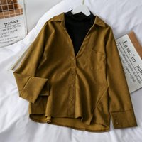 Women's Blouses & Shirts Only Plus Office Lady V-Neck Sold Women Workwear Buttoned Up Shirt Long Sleeve Blouse Tied Waist Topst