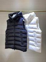Nova colete impressa encapuzado para baixo jaqueta preto e branco inverno grossa, xqnm724 17