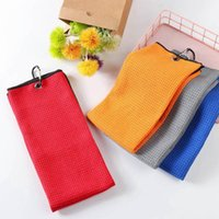 Golf Training Aids 8 Colors High Water Absorption Balls Hands Microfiber Towel Cleans Clubs Cleaning Towels With Carabiner Hook
