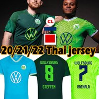 20/21 VFL WOLFSBURG Fussball Jersey 2021 Ginckek Steffen Fussball Hemden Männer Kinder Kits Mbabu Brooks Arnold Weghorst Uniform Thai