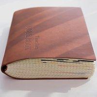 Notepads شبكة سميكة دفتر A5 الرجعية مجلة مذكرات الكتب ميزانية الكتب خاطئة الإبداع pu المفكرة مكتب اللوازم المدرسية 264 ورقة 2021