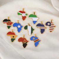 Ювелирные изделия хип-хоп Нигерия Сомали Ангола из нержавеющей стали из нержавеющей стали