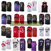 Kyle 7 Lowry Fred 23 Vanvleet Pascal 43 Siakam Basketbol Forması Tracy 1 McGrady Vince 15 Carter Retro Gömlek