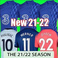 21 22 Soccer Soccer Jerseys Blue Home Giroud Abraham Werner Havertz Chilwell Ziyech Zouma Football Shirt Kante Mount 2021 Jorginho