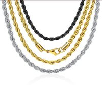 Necklace Twist Chain Titanium Steel Men's Trendy Simple Stainless Steels hip-hop Necklaces Jewelry Chains Gift Bulk