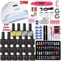 Nail Art Kits Set 120W UV LED LAMP For Manicure Gel Polish Kit Varnish Electric Drill Sets Tools