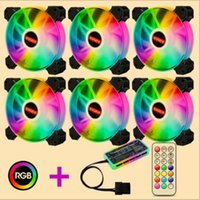 Computer PC Case Fan RGB Adjust LED high Speed 120mm Quiet Music Remote Control