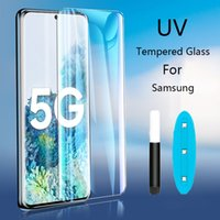 UV Liquid Full Glue Screen Protectors Tempered Glass For Samsung Galaxy S20 S10 S8 S9 Plus S10E S21 S30 Ultra Note 10 8 9 Plus With retail package